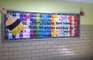 Motivational Art-Themed Bulletin Board Idea