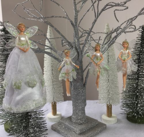 Gisela graham snowdrop #fairy #christmas tree #topper or decorations vintage whit, View more on the LINK: http://www.zeppy.io/product/gb/2/172323251421/
