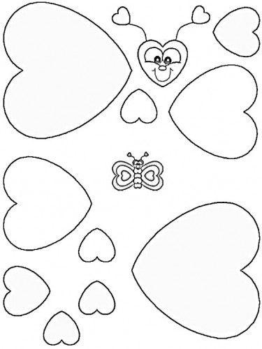 Mariposa de corazones