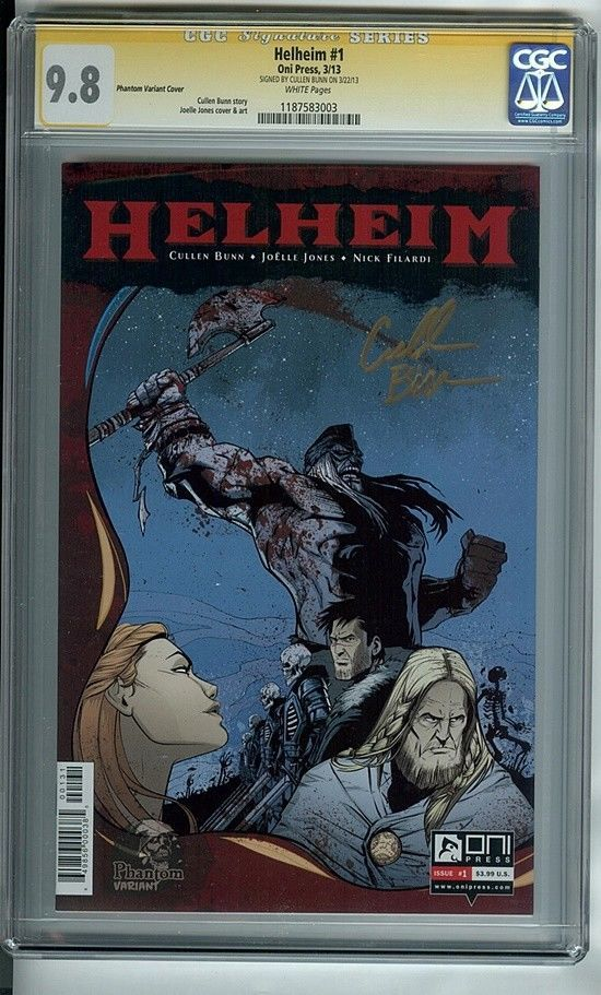Helheim 1Phantom (Oni Press Comics 2013) CGC Graded 9.8 Signed NM/MT