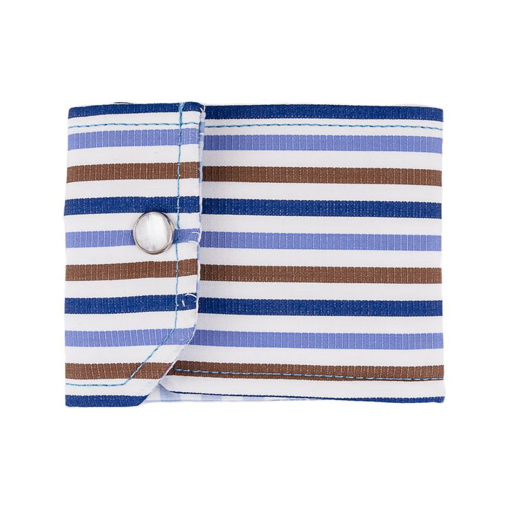 Innovative STRIPED CUFF Wallet Multicolor by NATI CON LA CAMICIA. Shop this elegant accessory HERE > http://finaest.com/designers/nati-con-la-camicia/striped-cuff-wallet-multicolor-blue-azure-brown  #finaest #accessory #wallet #portafoglio #cuff #menswear #accessorio #stylish #naticonlacamicia #shirt