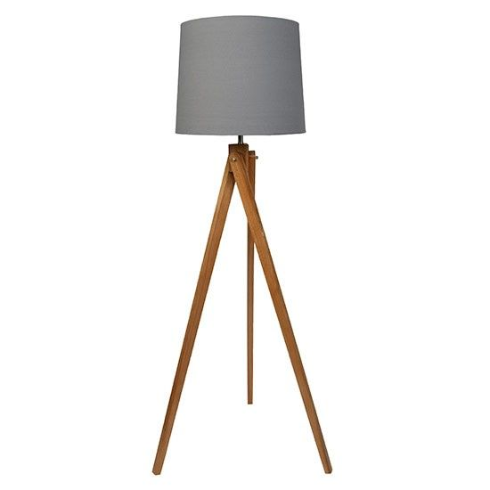 Wooden tripod floor lamp from Sainsbury's | Country-style floor lamps | Living room | PHOTO GALLERY | Country Homes & Interiors | Hous...