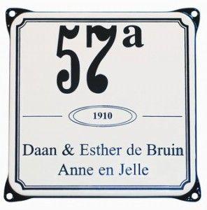 Engelse Emaille naamborden