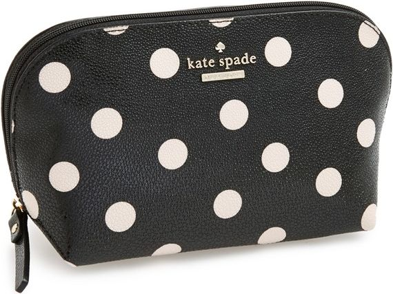 •Website: http://www.cuteandstylishbags.com/portfolio/kate-spade-new-york-black-deco-beige-cedar-street-dot-annabella-cosmetics-case/ •Item: Kate Spade New York Black Deco Beige 'Cedar Street Dot Annabella' Cosmetics Case