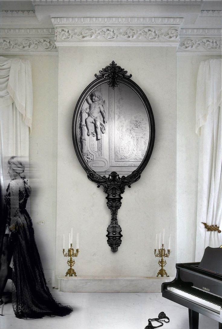 """Marie Antoinette Wall Mirror by Boca do Lobo 