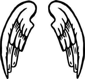 Angel Wings Tattoo clip art - vector clip art online, royalty free ... - ClipArt Best - ClipArt Best