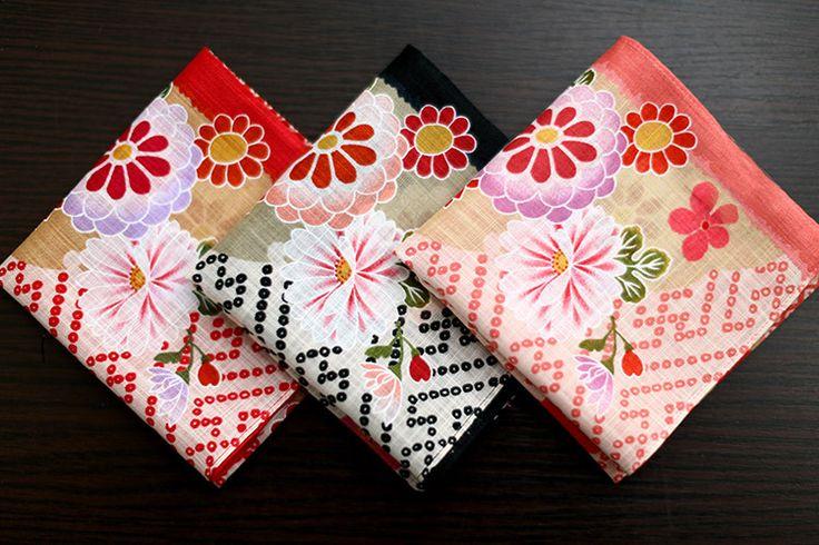 Good quanlity Japanese handkerchiefs,100% cotton fabric,Small daisy design pocket handkerchief,49*49cm pocket square