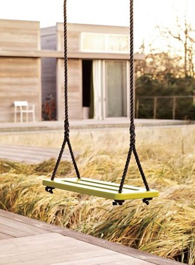 Like all Loll products, the new Swing is made of recycled plastic reclaimed from post-consumer waste (like milk jugs) and can be recycled again if necessarySide Tables, Greg Benson, Loll Design, Outdoor, Porches Swings Loll, Loll Swings, Gardens, Milk Jugs, Jeff Tali