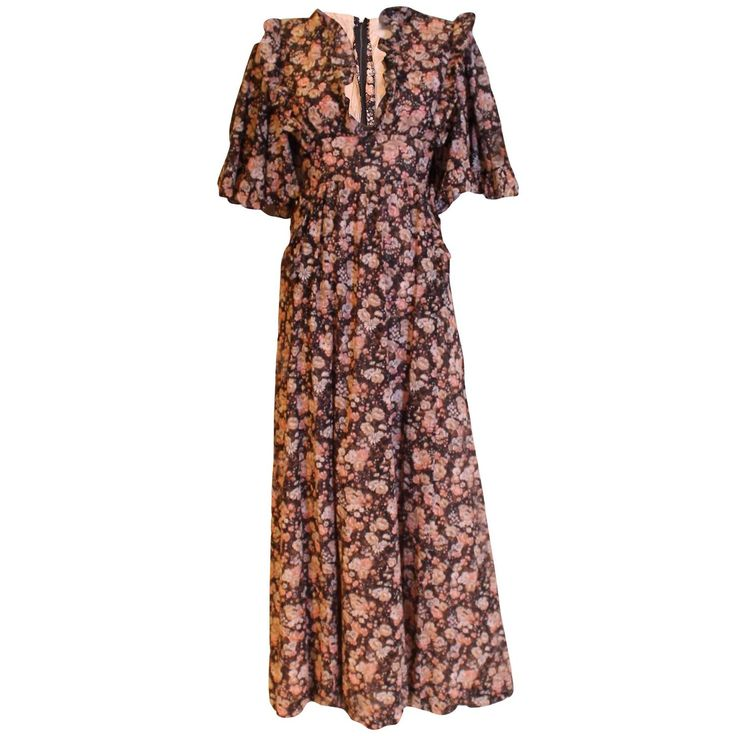 Gina Fratini Floral Cotton Gown