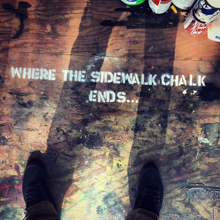 Time to paint.. #wherethesidewalkchalkends