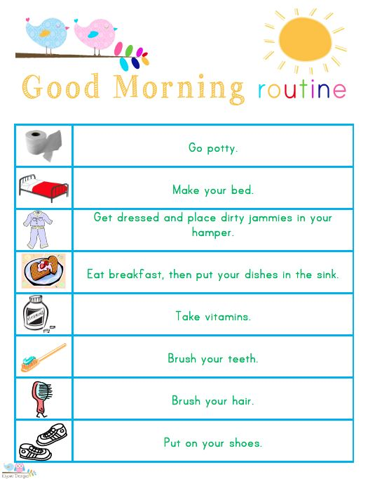 Best  Bedtime Routine Chart Ideas On   Kids Charts