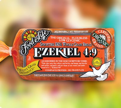 #SexyShred #TIC Food for Life Ezekiel 4:9 Sprouted Whole Grain Bread (All varieties of Ezekiel Bread are clean, with exceptions made for the malted barley.)