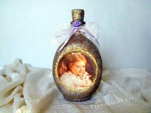Μπουκάλι με πάστα κρακελέ https://www.facebook.com/pages/Francescas-Art/347467208699516