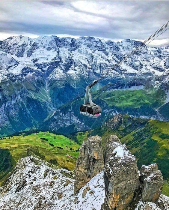 In Shilthorn, Switzerland.
