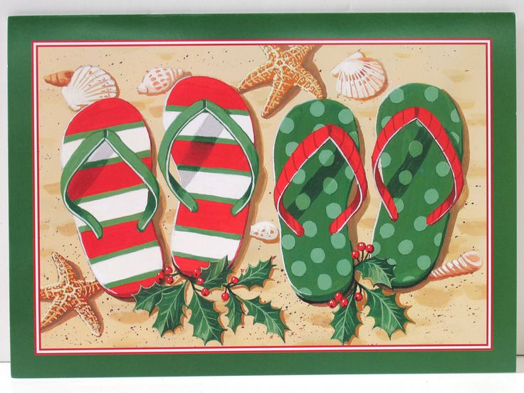 Holilday Flip Flops Christmas Cards Merry Christmas. Wishing you the best holiday under the sun! (http://www.caseashells.com/holilday-flip-flops-christmas-cards/)