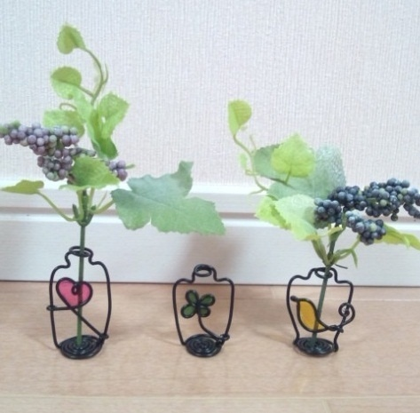 how to make small bottle which I made with wire- Japanese site
