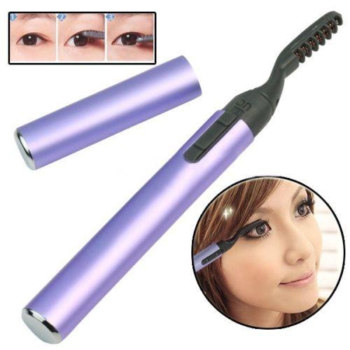 Roxo caneta portátil aquecida elétrica curvex maquiagem cílios duradoura Chic 5GOF alishoppbrasil