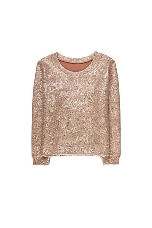 10 FEET Cute Metallic Sweater Rose Garden - Bluser/Strik - MaMilla