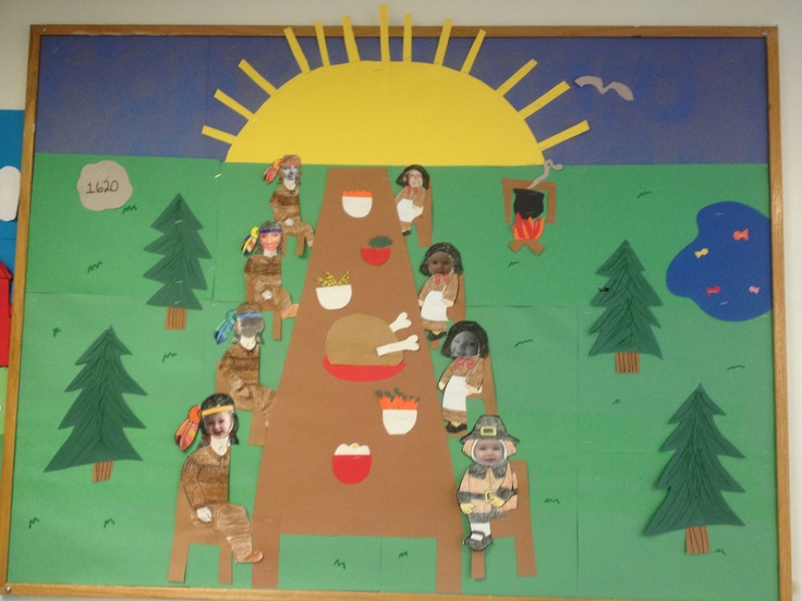 Thanksgiving bulletin board daycare nanny pinterest