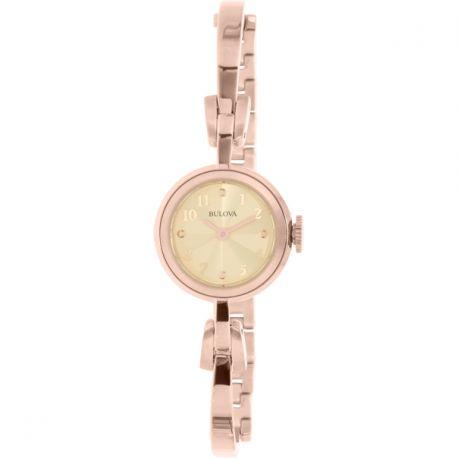 Reloj Bulova Clásico en oro rosa Modelo 97L156