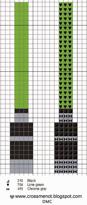 Lightsaber Star Wars pattern - Cross me not