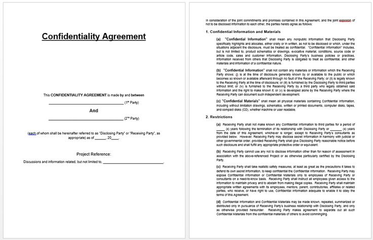 Confidentiality Agreement Template Templates Pinterest - sample employee confidentiality agreement