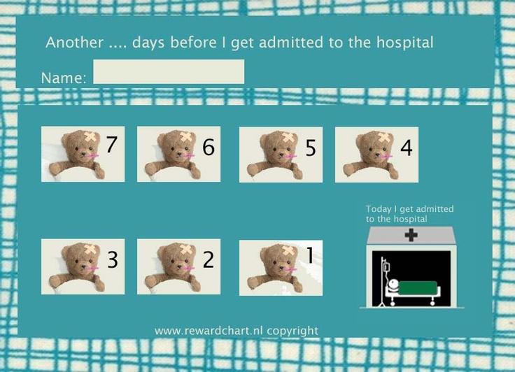 Countdown calendar hospital admission