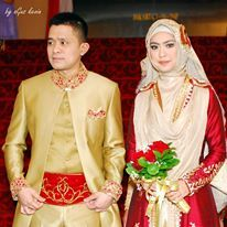 syar'i wedding dress by Irna Mutiara - Oki Setiana Dewi's Wedding