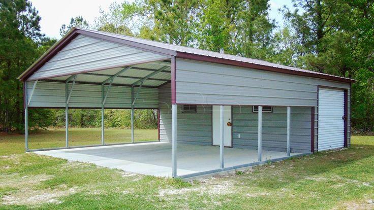 18X36 Metal Carport With Storage Utility Carports With