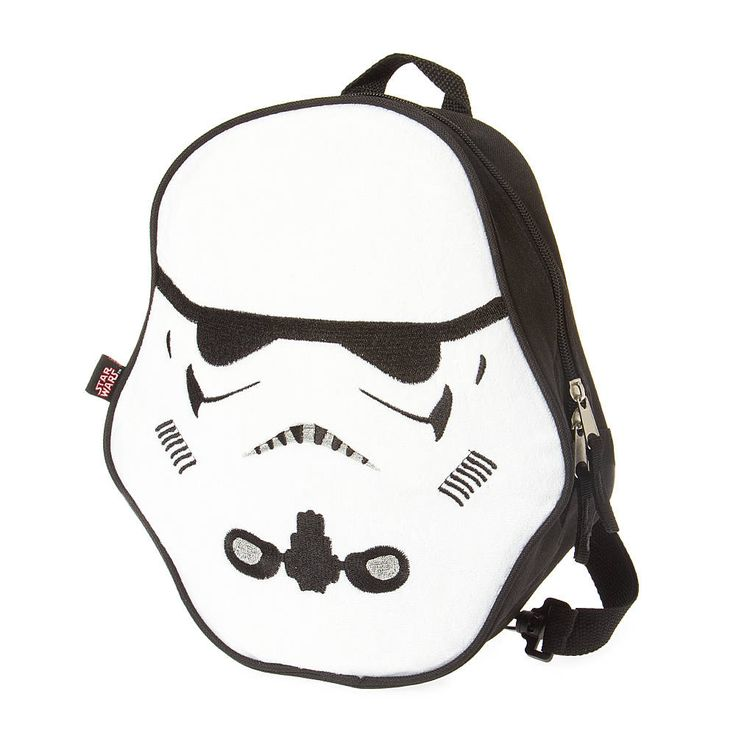 "<P>Whether you are headed to the Moon of Endor or school, you'll want to bring along this Stormtrooper backpack. The backpack is shaped like a Stormtrooper helmet and features a zip closure and adjustable straps.</P><UL><LI>Zip closure and adjustable straps<LI>10 1/2""L x 11 1/2""H x 3""W<LI>Plush/Polyester<LI><B>This item is not available for our customers in California. If purchased, this item will be removed from your order.</B> </LI></UL>"