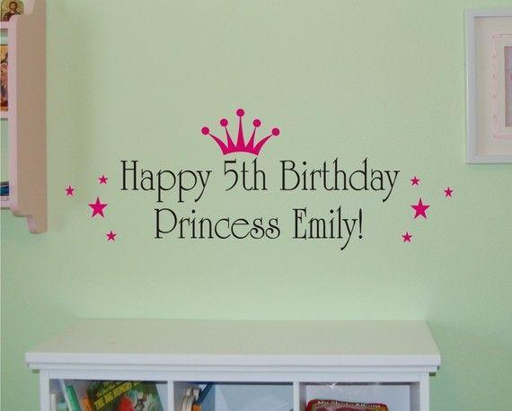 Happy Birthday Princess  Vinyl Wall Decal by homesweetwalls, $19.00