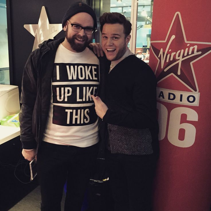 Hanging out with #OllyMurs!