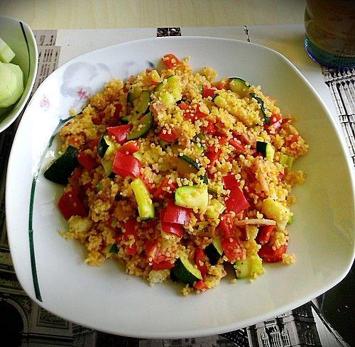 Couscous-Gemüsepfanne für Studenten
