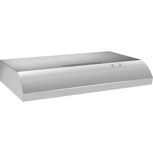 "Whirlpool - 30"" Recirculating Range Hood - Stainless-Steel - Angle"