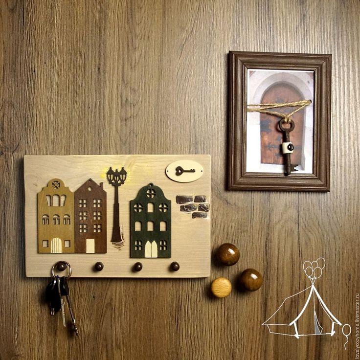 """Купить Ключница настенная """"Вечер за окном"""" - ключница, ключница настенная, панно, панно на стену"""