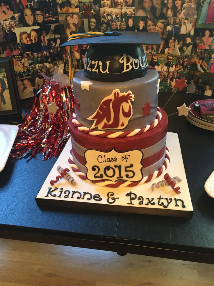 Washington State Univ Cake Had A Wsu Theme Grad Party