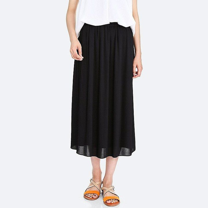Uniqlo Women's High-waist Chiffon Pleated Skirt