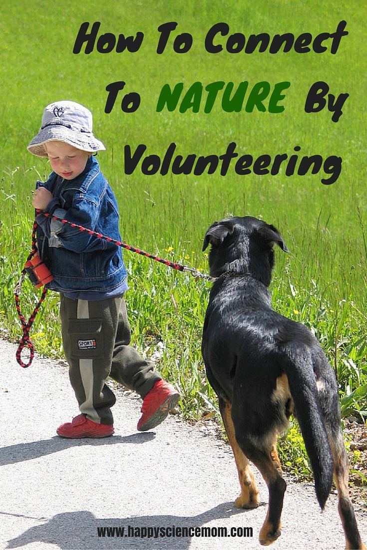 Both volunteer work and spending time in nature help reduce stress in our lives…