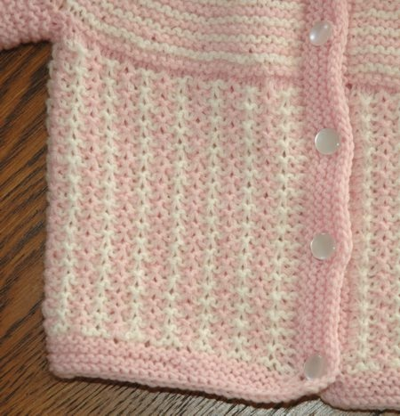 round yoke knitted baby sweater knitting Pinterest