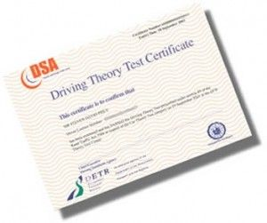 Sadly no longer given as a separate certificate. You will need to pass your theory test before you can book your practical test.  www.drivesmith.co.uk for free online theory test practice