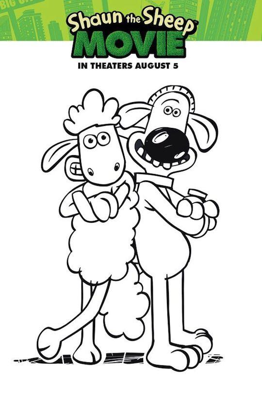 shaun the sheep coloring sheet
