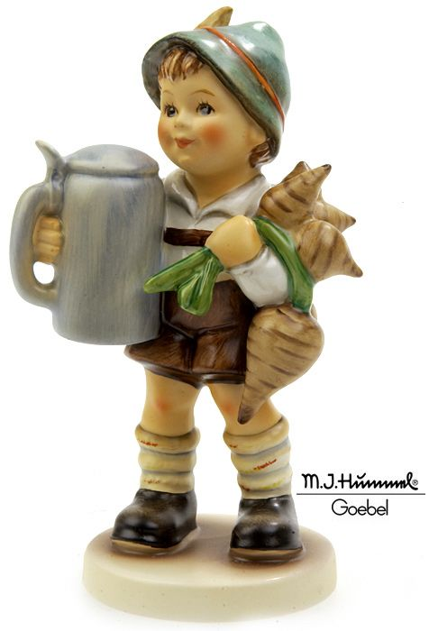 "This Hummel figurine, titled ""For Father,"" depicts a small boy who is bringing his father his beer stein and some turnips for dinner. if this rare find is part of your Hummel collection, give it the insurance it deserves and visit: http://www.americancollectors.com/Collectible/17/."
