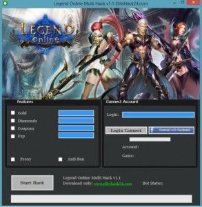 Legend Online Hack v2.1 Online 2017 Tool New Legend Online Hack v2.1 download undetected. This is the best version of Legend Online Hack v2.1, voted as best working tool.