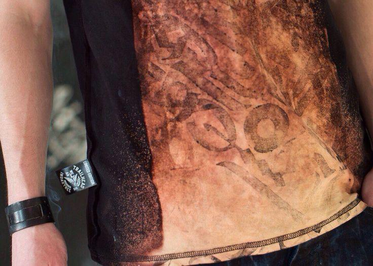 ODINTRI TSHIRT detail #odintri #tshirt #trailhead #calligraphy #handmade