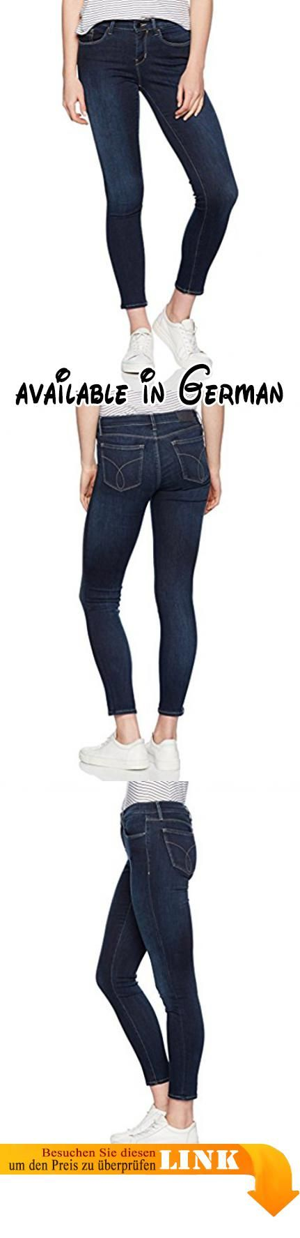 Calvin Klein Jeans Damen Jeanshose Mid Rise Skinny-Silk Dark Blau (Silk Dark 911), W29/L30. Skinny. Calvin Klein Mid Rise Skinny. #Apparel #PANTS
