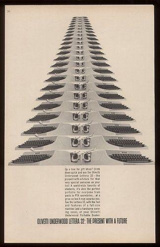 Olivetti Lettera 32 Christmas Advertisement | Flickr - Photo Sharing!
