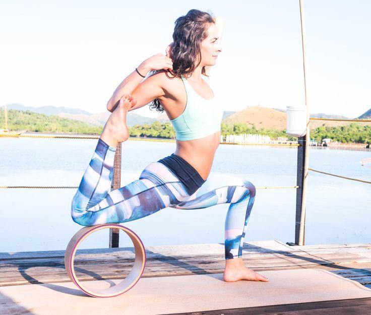 Hoftebøyeruttøyning med The Asanas Kork Yogahjul