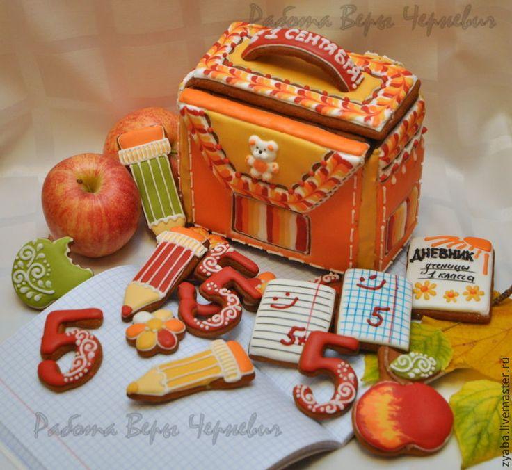 Купить Пряник школьный ранец (рюкзак) 3d - оригинальный подарок школьнику - пряник, расписные пряники