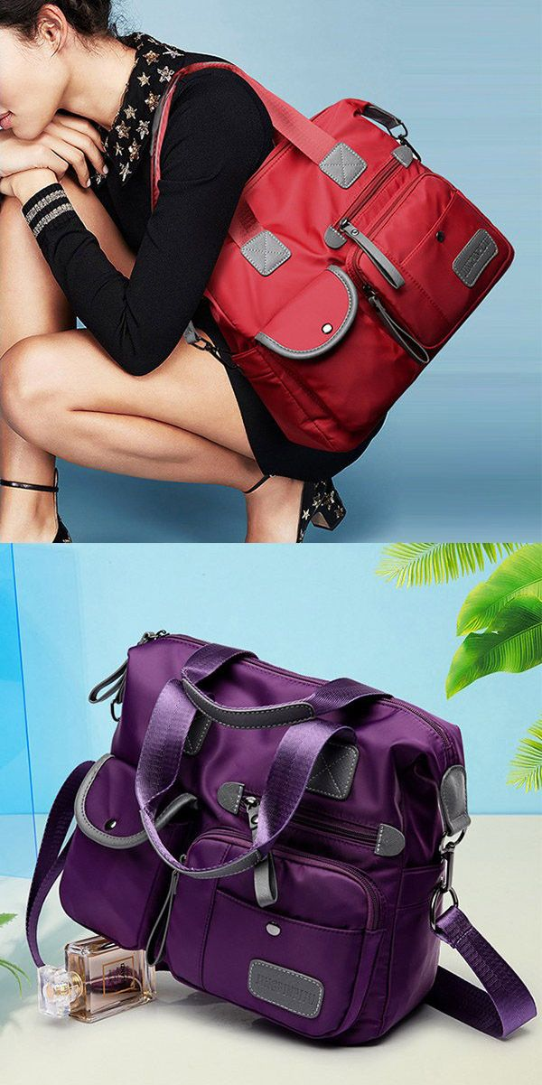 a3ed8ae4ef Bagail Women Nylon Waterproof Large Capacity Handbag Shoulder Bag Crossbody  Bags
