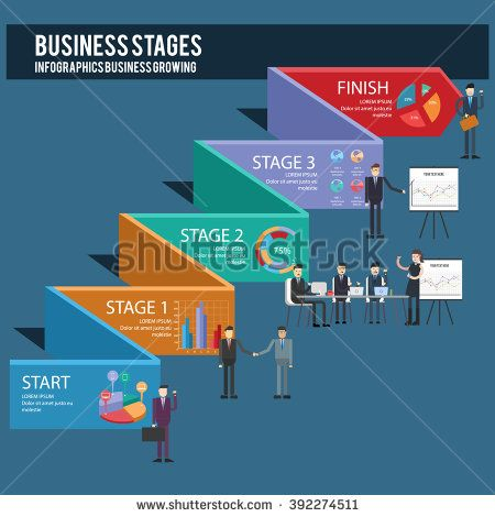 Businessman info graphic can be used for presentation - stock vector